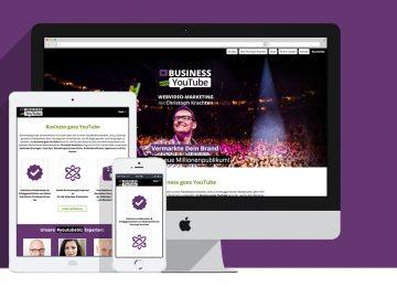 Business goes YouTube Webdesign